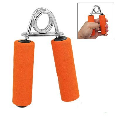 Orange Sponge Handle Hand Grip Strength Sports Fitness Equipment