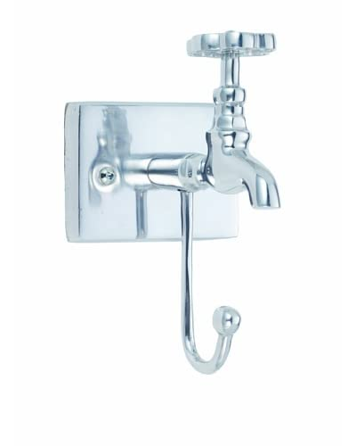 Torre & Tagus Single Tap Wall Hook, Silver