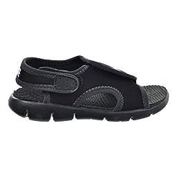 Nike Sunray Adjust 4 (TD) Toddler\'s Sandals Black/White/Anthracite 386519-011 (2 M US)