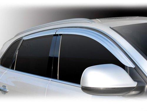 tuning accessoires pour audi q5 partir de 2008 chrom d flecteurs d air pluie d flecteurs d. Black Bedroom Furniture Sets. Home Design Ideas
