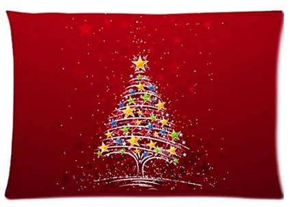 Abchomes Happy Santa Claus Festival Merry Christmas Pillowcase Zippered Pillow Case 20X30 Cotton Standard Size(Twin Sides)
