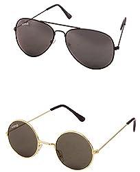Benour BENCOM019 Combo Unisex Sunglasses