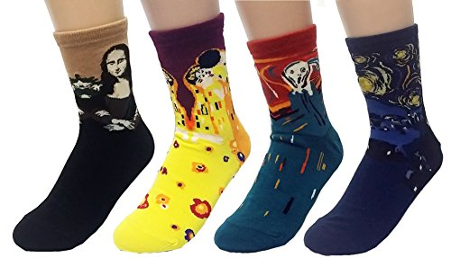 JJMax Women's Art Masterpiece Painting Collection Socks Set