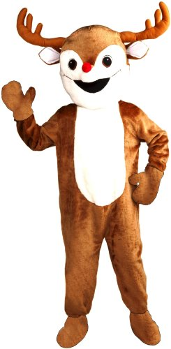 Forum Novelties Inc Unisex Reindeer Economy Mascot Adult Costume