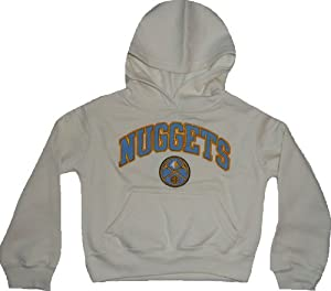 Denver Nuggets Girls off White Hooded Sweatshirt 4 5 XS by NBA