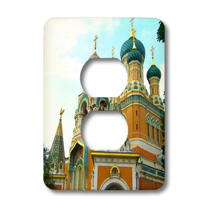 Lsp_164887_6 Inspirationzstore Photography - Orthodox Russian Cathedral Photo - Church In Nice, France - Light Switch Covers - 2 Plug Outlet Cover