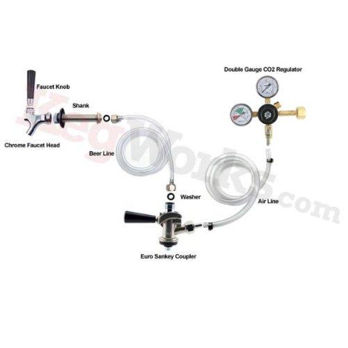 Standard Refrigerator Conversion Kit (European Sankey Coupler - No CO2 Tank)