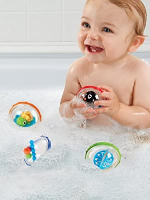 Munchkin 44670 Float and Play Bubbles Bath Toy, 4 Count