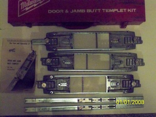 Milwaukee 49 54 0101 Door Jamb Butt Router Template Kit