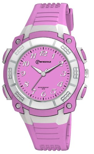 Fashion Bright Color Water-Proof Analog Girls Sport Watch Mr-8017Aq-4