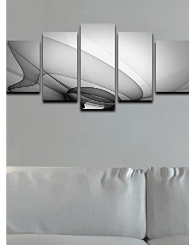 Thuis Mania canvas foto set van 5 wit Canvas