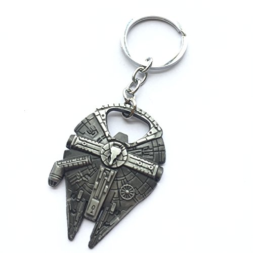 2pcs asteriatedtm star wars millennium falcon replica keychain bottle opener toys games toys. Black Bedroom Furniture Sets. Home Design Ideas
