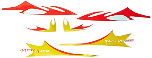 Thunder Tiger RC PV6314 Decal, E550, Red