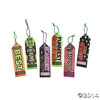 Halloween Party Costume Contest Award Prize Ribbons - 12 pcs