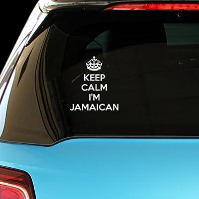 KEEP CALM I'M JAMAICAN Car Laptop Wall Sticker