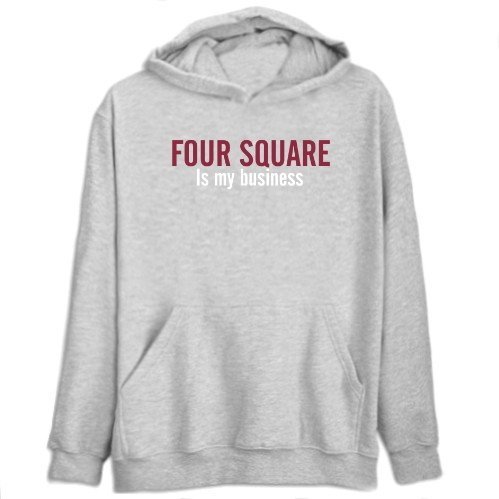 Four Square Is My Business Sports Mens Hoodie (Heather Gray, Size Large)