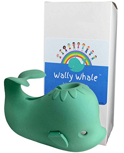 Wally Whale Silicone Bathtub Cover with Shower Diverter Access Protects Kids & Pets From Faucet Bumps and Bruises (Bath Tub Bumper compare prices)