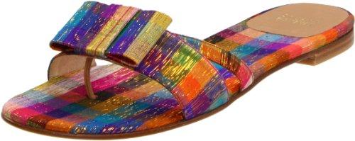 Stuart Weitzman Women's Thongbird Sandal,Tinsel Silk,7 M US