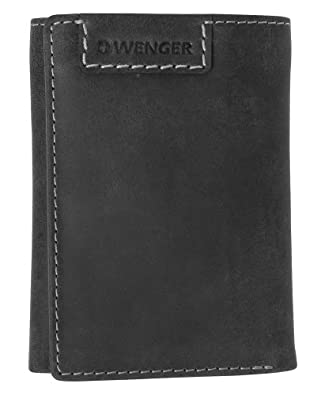 Wenger Interlaken Leather Trifold Wallet, grey 12468