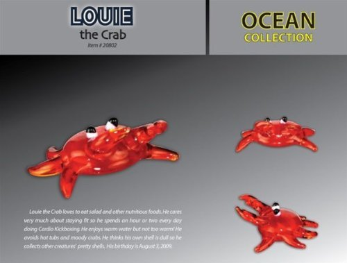 Louie the Crab Looking Glass Torch Sculpture