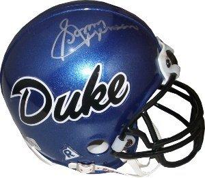 Sonny Jurgensen Autographed Hand Signed Duke Blue Devils Replica Mini Helmet