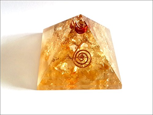 Exquisite A++ Citrine Orgone Pyramid Crystal Gemstones Piezo Electric Electromagnetic Waves