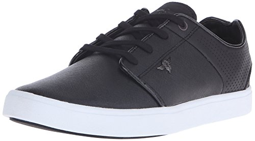 Creative Recreation Men's Santos Fashion Sneaker, Black/White Perforated, 10 M US