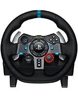 Logitech G29 Volant de course pour PS3 et PS4, en cuir et métal - noir