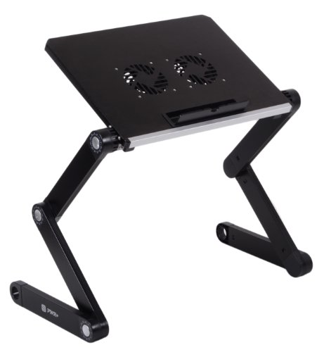 Pwr+ Portable Folding Laptop Notebook Book Table Desk Tray Stand with Cooling Pad - 2x Cooler Fans - Aluminium Alloy - Adju... at Sears.com