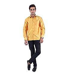 Warrior Art Silk Yellow Orange Shirt