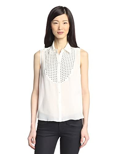 Elizabeth and James Women's Studded Blouse