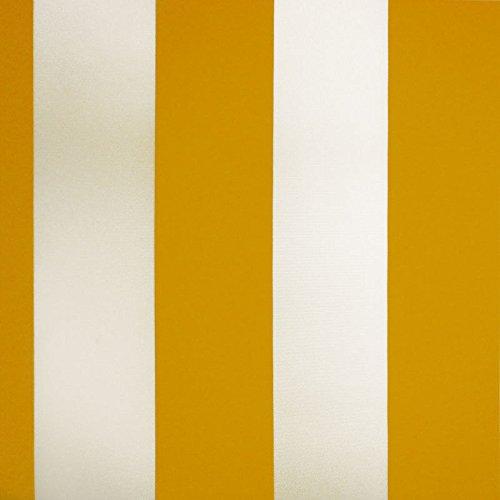 Markisenstoff Plane Zeltstoff Sonnensegel Persenningstoff Wasserabweisend (Gelb-Weiss) kaufen