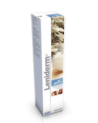 Icf Spuma pH7 Leniderm 200 ml - Al latte di avena, senza risciacquo, detergente per cani e gatti