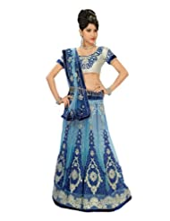 Chirag Sarees Net Blue Miss India Saree