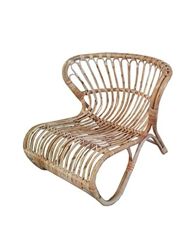 ZEW, Inc. Butterfly Rattan Chair, Natural As You See