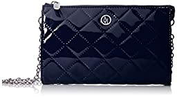 Armani Jeans V4 Quilted Patent Crossbody Bag, Blue, One Size