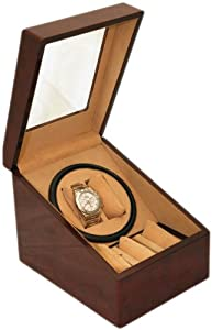 BRAND NEW BURL WOOD 2+3 AUTOMATIC DUAL / DOUBLE WATCH WINDER + 3 DISPLAY STORAGE BOX BATTERY OR AC/DC POWER