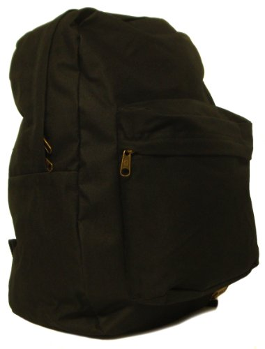 Boys/Girls/Childrens Plain Black Hi-Tec Backpack, Ideal For School - Black - UK 1-1
