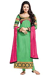 Vibes Pure Georgette Dress Material (V179-46014_Green)