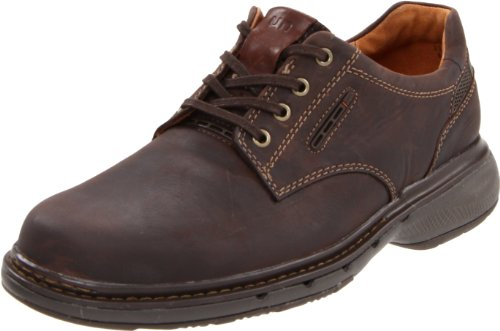 Clarks Men's Unstructured Un.Centre Oxford,Brown Nubuck,9 M US