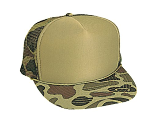 Hats & Caps Shop Camouflage Polyester Foam Front High Crown Golf Style Mesh Back Caps - By TheTargetBuys