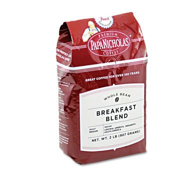 Papanicholas Breakfast Blend Whole Bean Coffee - 6 Pack