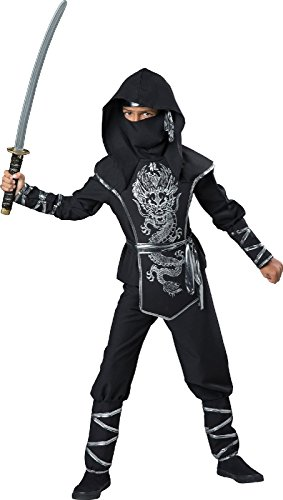 Silver Ninja Boy - Costume For Kids