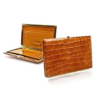 Abas Full Frame Clutch Wallet - Vintage Croc Tan at Amazon Women's