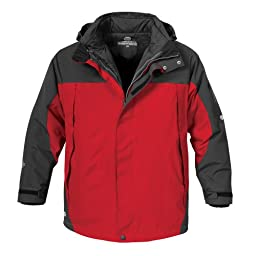Stormtech Men\'s Fusion 5-in-1 System Jacket, Red/Black, Large