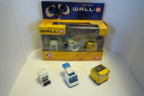 Wall-E 3x Action Figure Robot Set