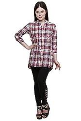 Ekavira Women's Tunic Top (EKTU-01L_ Multicoloured_Large)