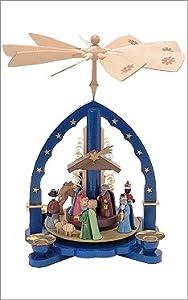 German Pyramid Nativity Scene Arch Design from Glaesser from Glaesser