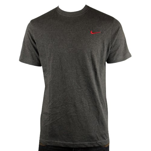 New Mens Nike Grey Retro Logo Gym Sports Tee T-Shirt Vintage Top Size M