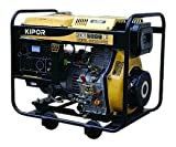 Kipor KDE5000E 5000-Watt Diesel Open Frame Generator With Electric Start
